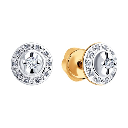 Серьги из золота с бриллиантами (1021333) - фото №2
