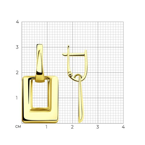 Серьги из желтого золота 028392-2 SOKOLOV фото 2