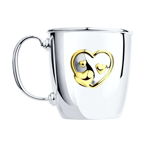 Кружка малая «Сердце», позолота