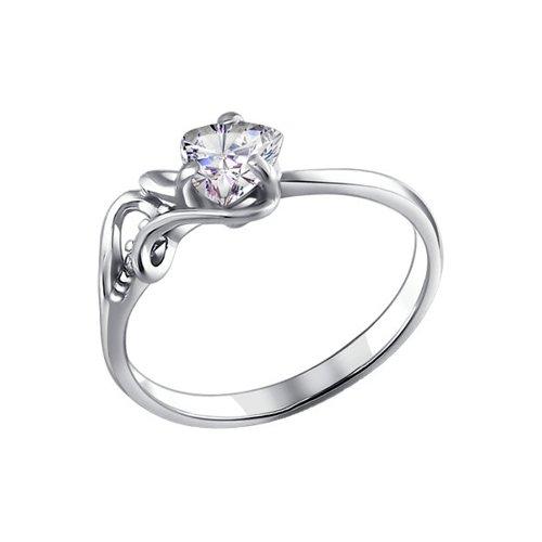 Кольцо love SOKOLOV из серебра с фианитами кольцо sokolov из золота love you