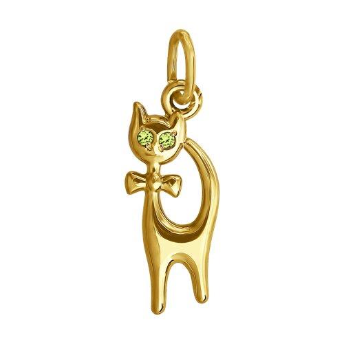 """Подвеска """"Кошка"""" из желтого золота"""