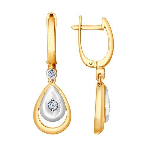 Серьги из золота с бриллиантами (1021198) - фото