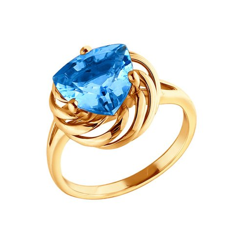 Золотое кольцо с топазом SOKOLOV золотое кольцо ювелирное изделие 01k645533