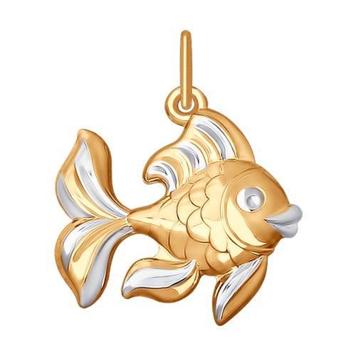 """Подвеска из золота """"Рыбка"""""""
