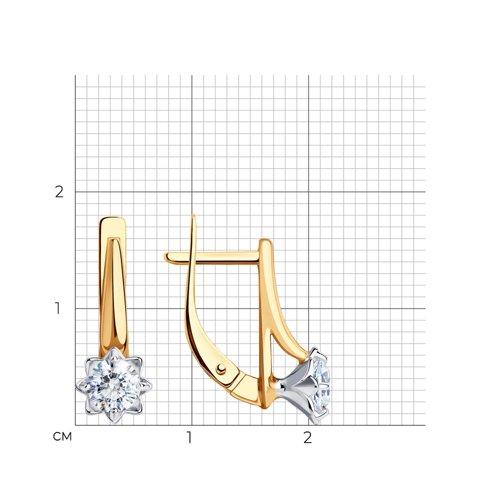 Серьги из золота с фианитами Сваровски 81020520 SOKOLOV фото 2
