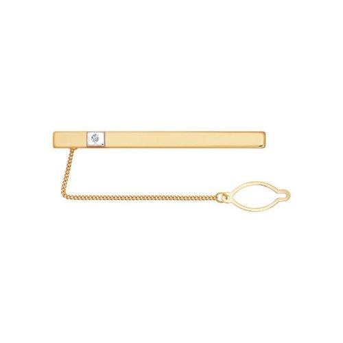 Фото - Мужской зажим для галстука SOKOLOV из красного золота с фианитом зажим для галстука из красного золота