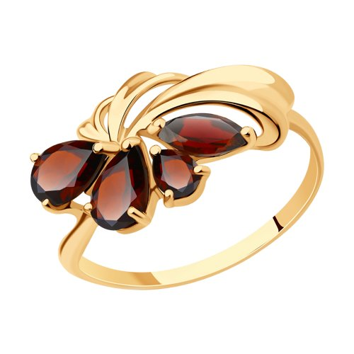 Кольцо SOKOLOV из золота с гранатами