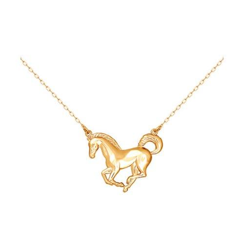Золотое колье «Лошадь» SOKOLOV лошадь hansa
