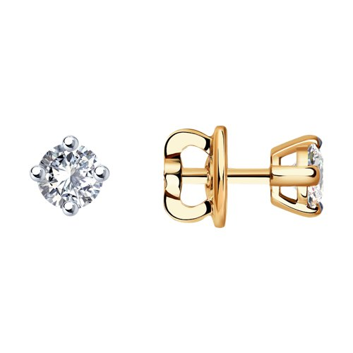 Серьги из золота с бриллиантами (9020016) - фото
