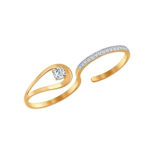 Разъёмное кольцо на два пальца SOKOLOV из золота