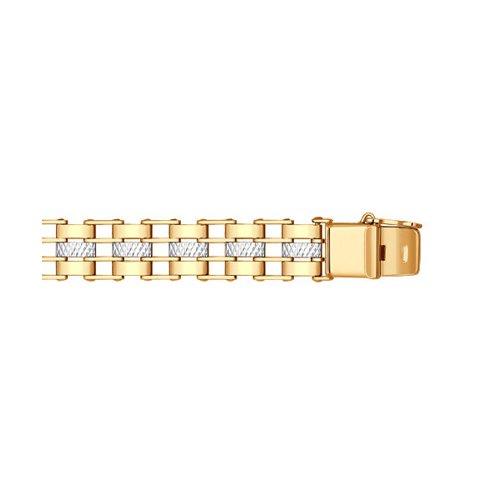 Классический мужской браслет с алмазной гранью SOKOLOV