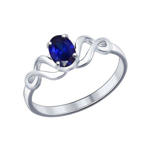 Кольцо из серебра с сапфиром