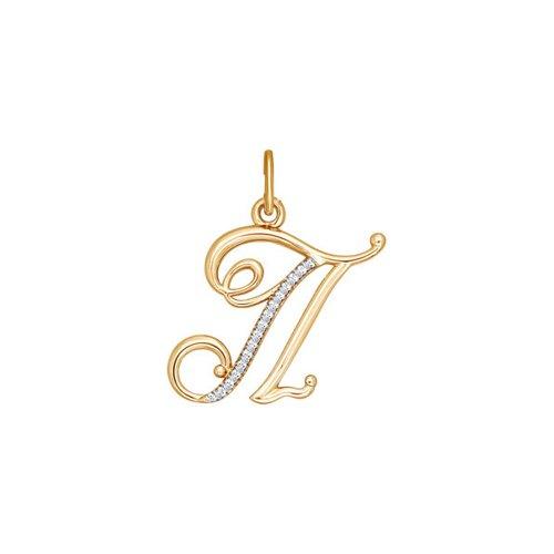 Подвеска-буква «П» SOKOLOV из золота
