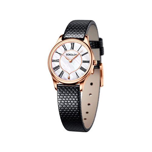 Женские золотые часы (238.01.00.000.01.01.2) - фото
