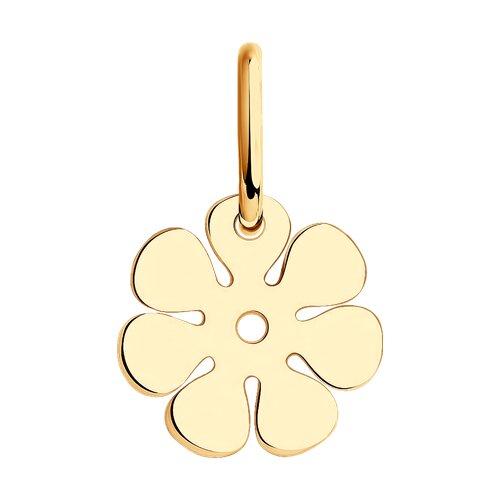 Подвеска-цветок из золота
