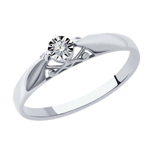 Помолвочное кольцо c драгоценным камнем 1011160 sokolov фото