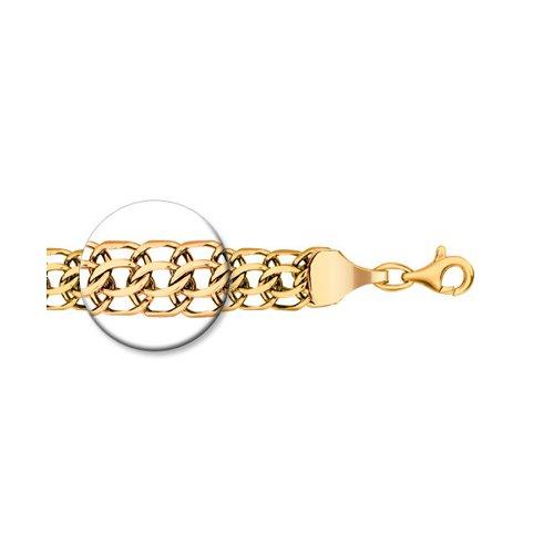 Цепь питон ручная вязка из золочёного серебра с алмазной гранью (988150904) - фото