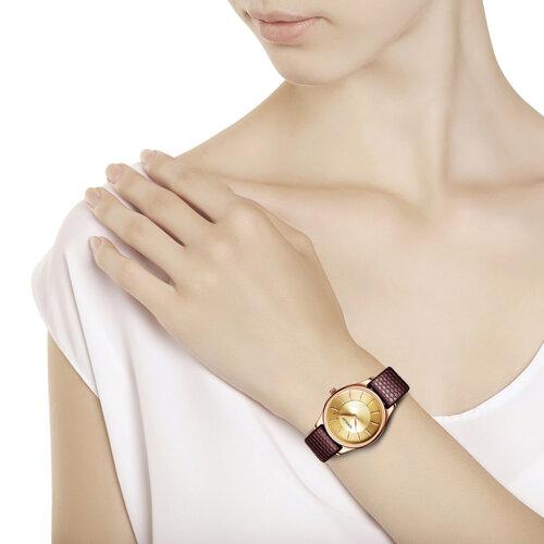 Женские золотые часы (238.01.00.000.05.04.2) - фото №3