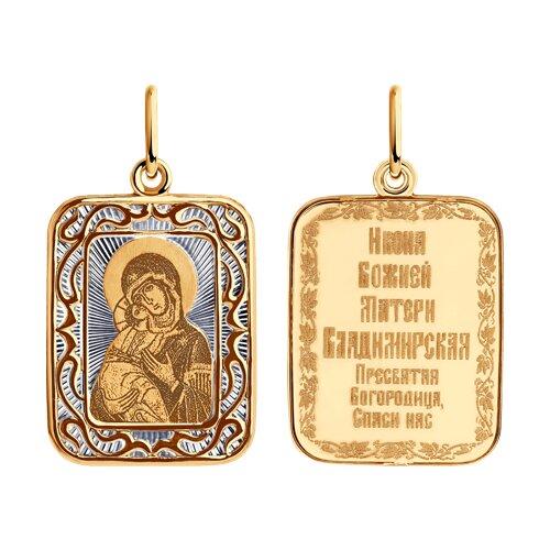 Подвеска из золота 104201 sokolov фото