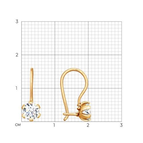 Серьги из золота с фианитами 024678 SOKOLOV фото 2