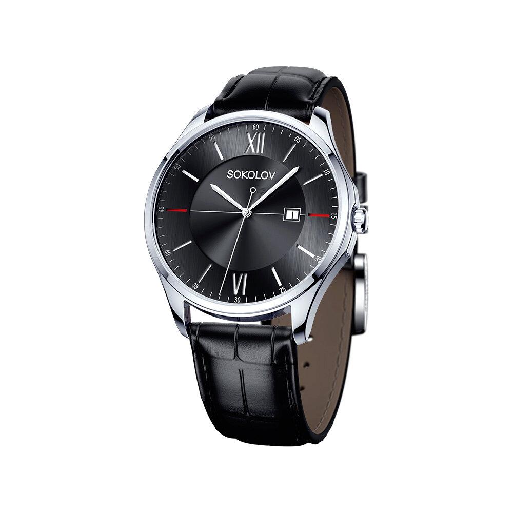 цена Мужские серебряные часы SOKOLOV онлайн в 2017 году