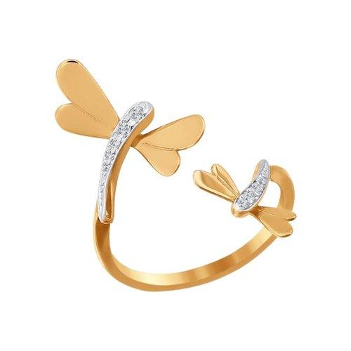 Золотое кольцо «Стрекоза» SOKOLOV золотое кольцо ювелирное изделие 01k645533