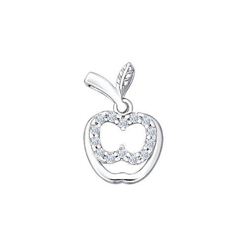 лучшая цена Серебряный кулон «Яблоко» SOKOLOV