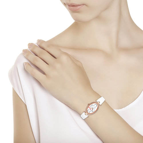 Женские золотые часы (236.01.00.100.03.05.2) - фото №3