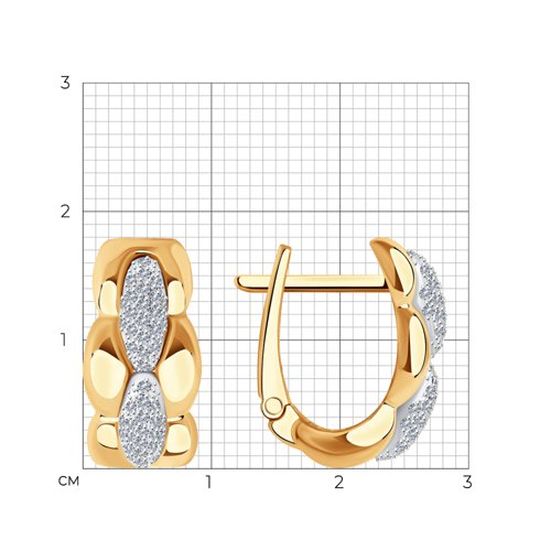 Серьги из золота с бриллиантами 1021639 SOKOLOV фото 2