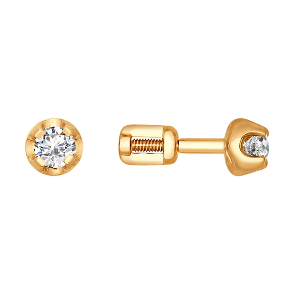 Фото - Серьги-пусеты SOKOLOV из золота с бриллиантами асимметричные серьги пусеты sokolov из золота