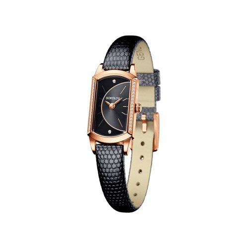 Женские золотые часы (222.01.00.100.06.01.3) - фото
