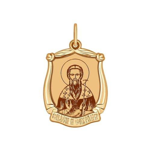 Иконка из золота с лазерной обработкой (103095) - фото