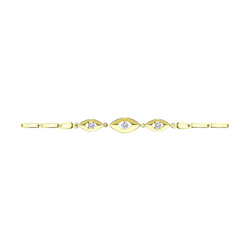 Браслет из желтого золота (051061-2) - фото