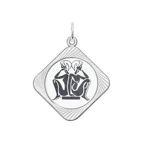 Фото - Подвеска «Знак зодиака Близнецы» SOKOLOV am 812 брелок знак зодиака близнецы латунь янтарь