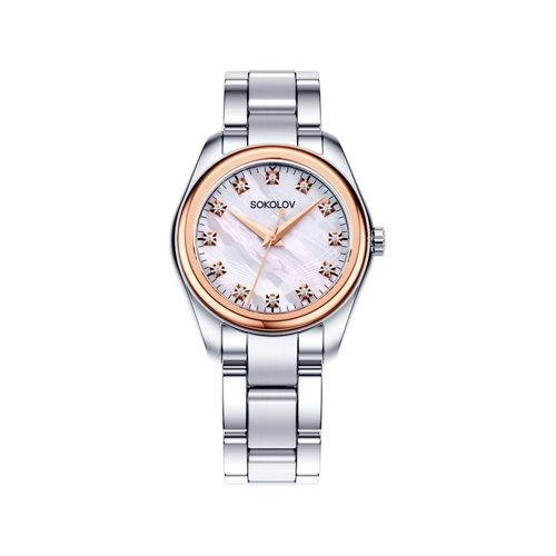 Женские часы из золота и стали (140.01.71.000.02.01.2) - фото №2