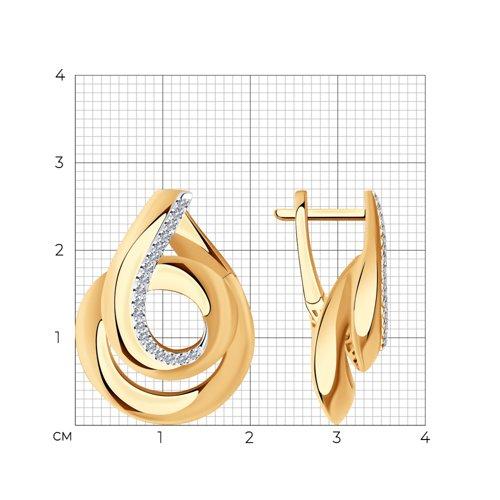 Серьги из золота с бриллиантами 1021617 SOKOLOV фото 2