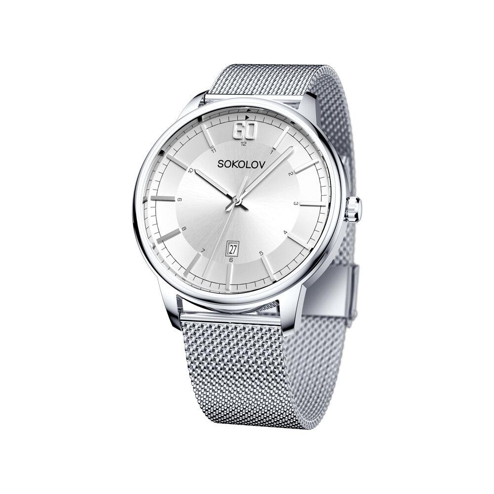 Мужские стальные часы SOKOLOV