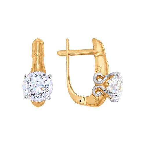 Серьги SOKOLOV из золота со Swarovski Zirconia серьги с английским замком из золота 01с117416