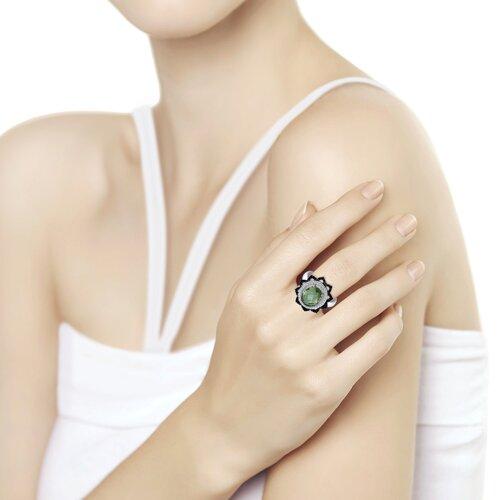 Кольцо из серебра с миксом камней (92011278) - фото №2