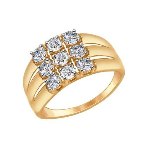 Кольцо SOKOLOV из золота со Swarovski Zirconia