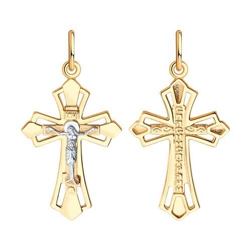 Подвеска- крест из золота 121438 sokolov фото
