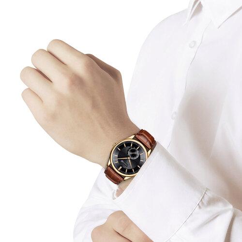 Мужские золотые часы (237.01.00.000.05.03.3) - фото №3