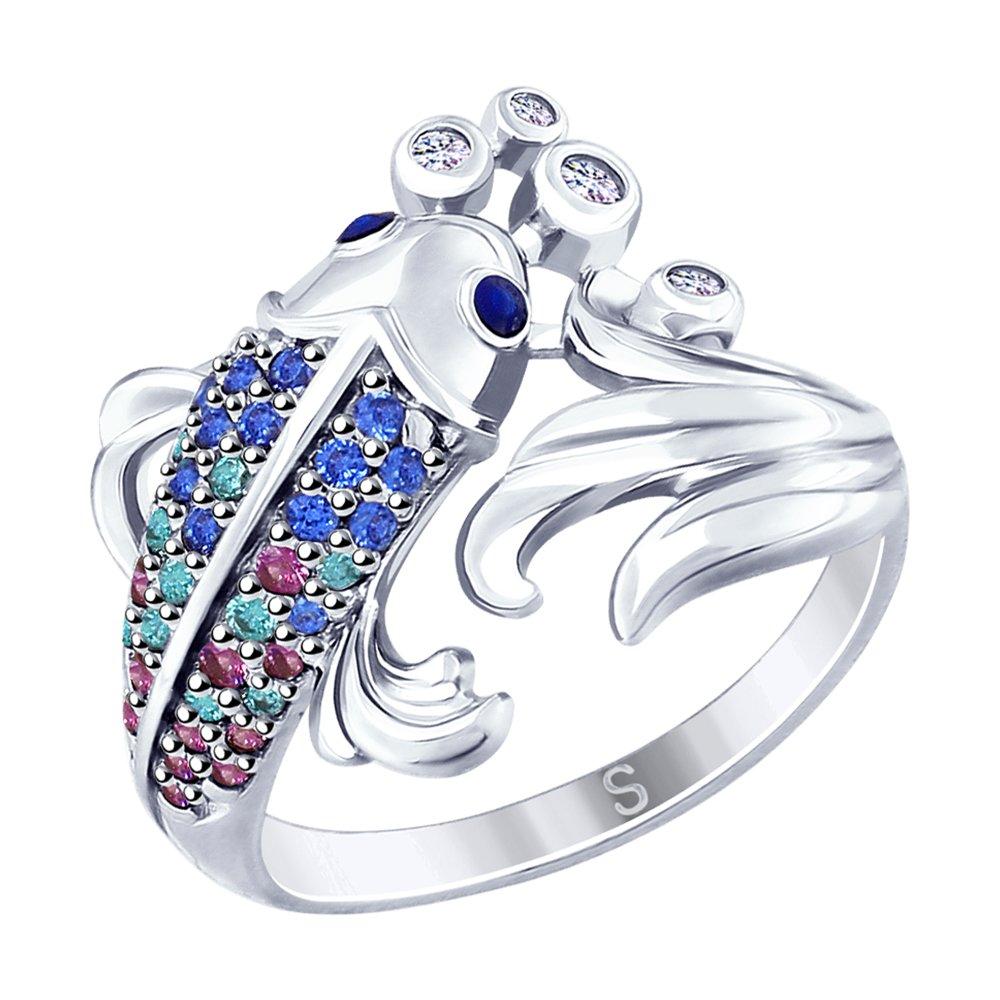Серебряное кольцо «Рыбка» SOKOLOV