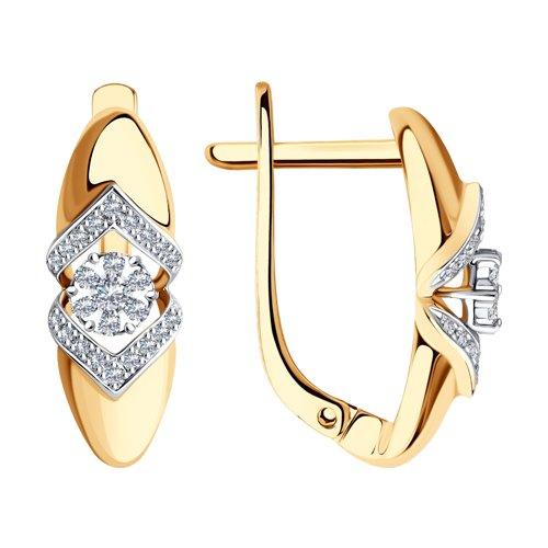 Серьги SOKOLOV из комбинированного золота с бриллиантами фото