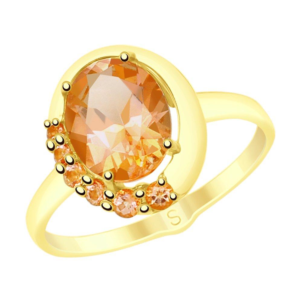 Кольцо SOKOLOV из желтого золота с топазами Swarovski кольцо sokolov из золота с топазами swarovski