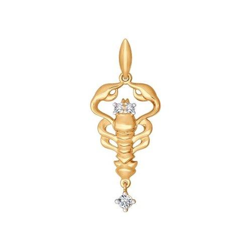 Золотой кулон «Знак зодиака Рак» SOKOLOV магия золота золотой кулон mg127351