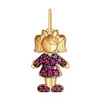 Подвеска «Девочка» из золота