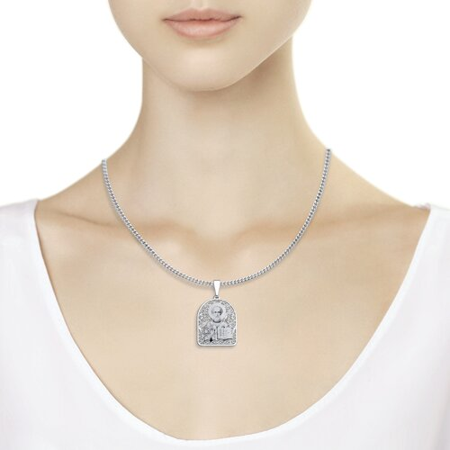 Иконка из серебра с лазерной обработкой (94100138) - фото №2