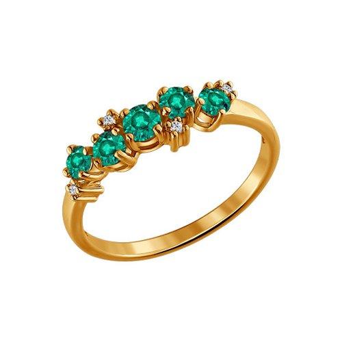 Фото - Кольцо с дорожкой SOKOLOV из изумрудов и бриллиантов кольцо с дорожкой sokolov из чёрных бриллиантов