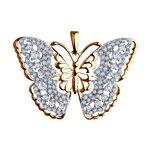 Подвеска «Бабочка» из золота с фианитами